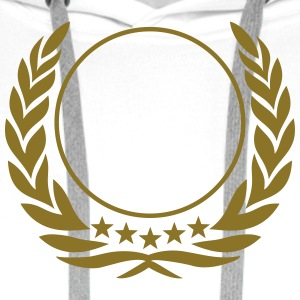 Laurel wreath, 5 stars, Award, Best, hero, winner  T-shirts - Herre Premium hættetrøje