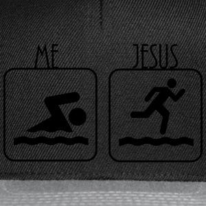 Swimming -  Me vs. Jesus Pullover & Hoodies - Snapback Cap