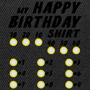 Happy Birthday Custom Geburtstag T-Shirt T-Shirts - Snapback Cap