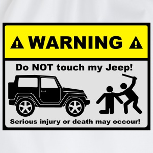 Do not touch my Jeep! - Turnbeutel