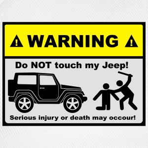 Do not touch my Jeep! - Baseballkappe