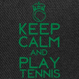 keep calm play tennis couronne balle Sweat-shirts - Casquette snapback