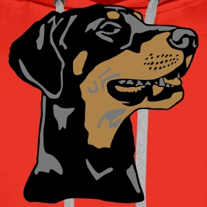 Dobermann Pinscher head T-Shirts - Men's Premium Hoodie