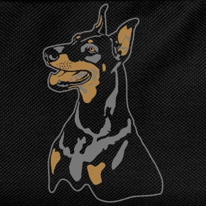 Dobermann Pinscher Head T-Shirts - Kinder Rucksack