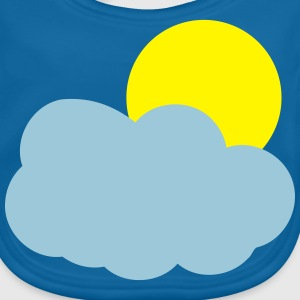 Sun and Clouds T-shirts - Baby økologisk hagesmæk