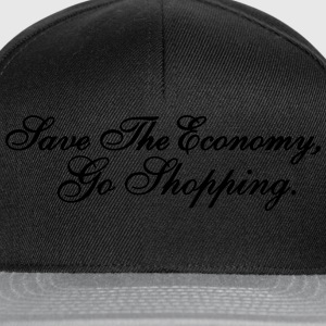 Save The Economy, Go Shopping Pullover & Hoodies - Snapback Cap