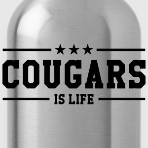 Cougars is life Camisetas - Cantimplora
