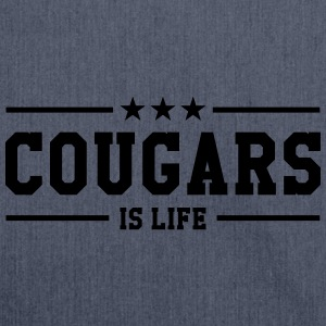 Cougars is life T-Shirts - Shoulder Bag made from recycled material