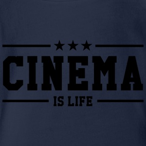 Cinema is life Shirts - Organic Short-sleeved Baby Bodysuit