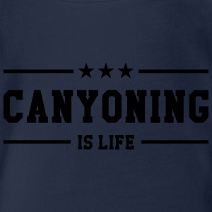 Canyoning is life T-Shirts - Baby Bio-Kurzarm-Body