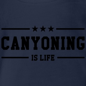 Canyoning is life Tee shirts - Body bébé bio manches courtes