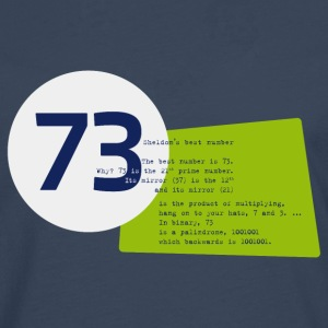 73 the best number BIG BANG - Männer Premium Langarmshirt