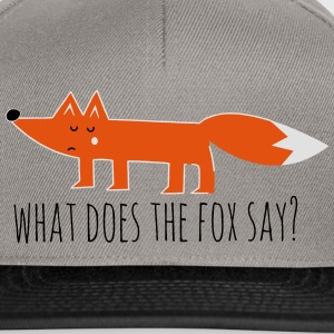 Funny what does the fox say ring ding meme song T-Shirts - Snapback Cap