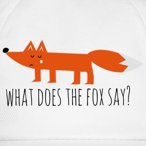 fuchs fox what does the fox say lustige sprüche T-Shirts - Baseballkappe