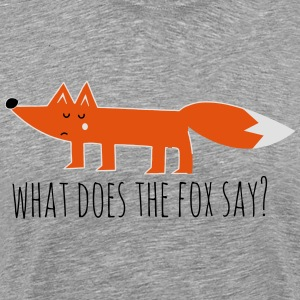 Funny what does the fox say ring ding meme song Hoodies & Sweatshirts - Men's Premium T-Shirt