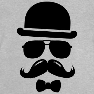 Cool  swag hipster moustache boss man father Tee shirts - T-shirt Bébé