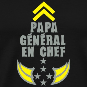 papa general chef arme etoile 5 Sweat-shirts - T-shirt Premium Homme