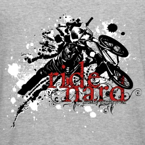 ride hard bmx Sweaters - slim fit T-shirt