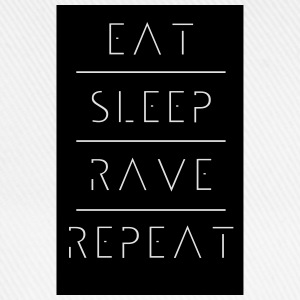 eat sleep rave repeat T-Shirts - Baseballkappe