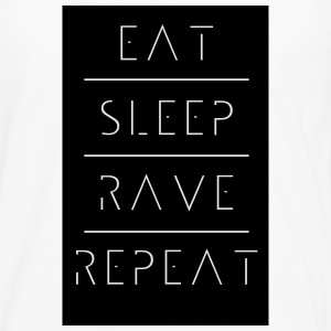 eat sleep rave repeat T-Shirts - Männer Premium Langarmshirt