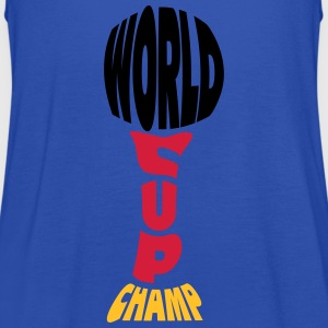 Worldcup Champion T-shirts - Vrouwen tank top van Bella