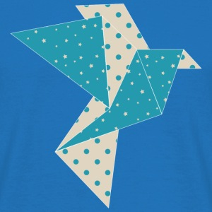 blue origami bird Bags & Backpacks - Men's T-Shirt