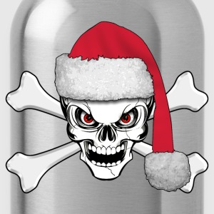 skull happy christmas Shirts - Water Bottle