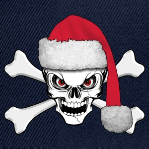 skull happy christmas Shirts - Snapback Cap