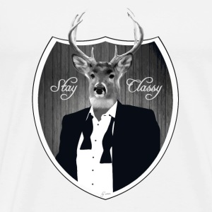 Cerf en smoking Badges - T-shirt Premium Homme