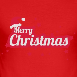 merry christmas Tee shirts manches longues - Tee shirt près du corps Homme