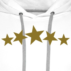 5 Gold Stars, Freestyle, Birthday, Christmas, Gift T-skjorter - Premium hettegenser for menn