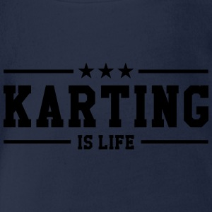 Karting is life Shirts - Baby bio-rompertje met korte mouwen