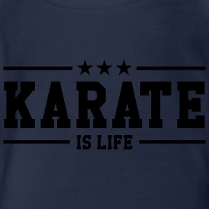 Karate is life Shirts - Organic Short-sleeved Baby Bodysuit