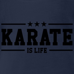 Karate is life Camisetas - Body orgánico de maga corta para bebé