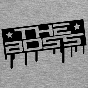 The Boss Stamp Camisetas - Camiseta de manga larga premium hombre