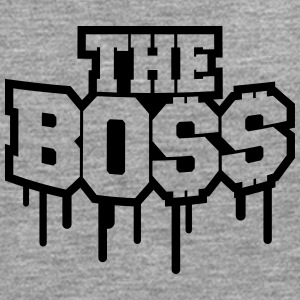 The Boss Rich Money Dollar Graffiti T-shirts - Herre premium T-shirt med lange ærmer