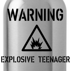 Warning T-Shirts - Trinkflasche