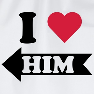 I love him (links) T-Shirts - Turnbeutel