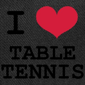I Love Table Tennis T-Shirts - Snapback Cap