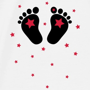 Baby feets, stars, birth, gift, Mom Accessories - Men's Premium T-Shirt