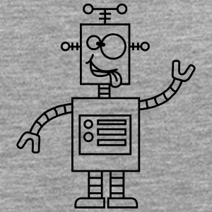 Funny Crazy Robot Tee shirts - T-shirt manches longues Premium Homme