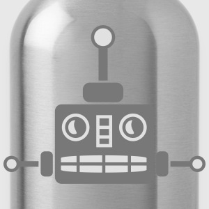 Cool Robot Face T-Shirts - Water Bottle