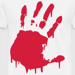 bloody hand Long sleeve shirts - Men's Premium T-Shirt