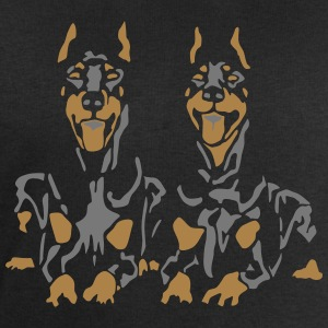 Dobermann Pinscher Black Down Standing Ears Tee shirts - Sweat-shirt Homme Stanley & Stella