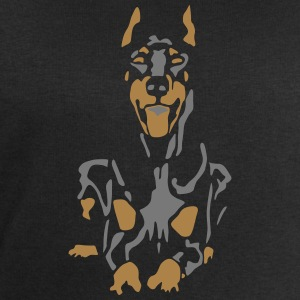 Dobermann Pinscher Black Down Standing Ears T-Shirts - Men's Sweatshirt by Stanley & Stella