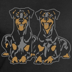 Dobermann Pinscher Down Black Tee shirts - Sweat-shirt Homme Stanley & Stella