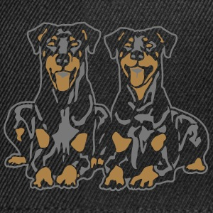 Dobermann Pinscher Down Black Camisetas - Gorra Snapback