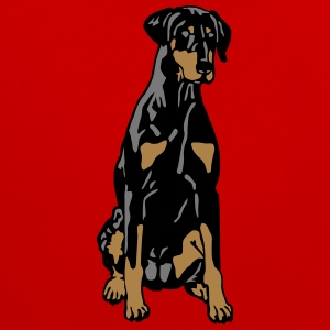 Dobermann Pinscher Black Sit T-shirts - Kontrastluvtröja