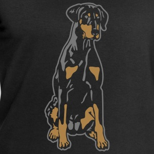Dobermann Pinscher Black Sit Tee shirts - Sweat-shirt Homme Stanley & Stella