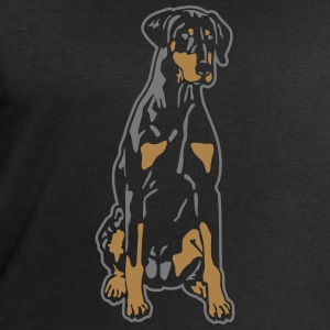 Dobermann Pinscher Black Sit T-Shirts - Men's Sweatshirt by Stanley & Stella